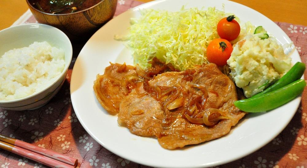 北海道 食堂 生姜焼き
